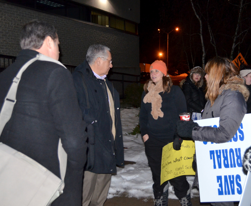 Local leaders, parents rally at Upper Canada District School Board meeting